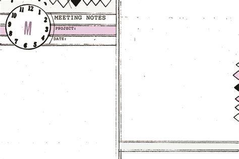 free template need to make small information note for card 4x6 monthly weekly diy planner templates meeting notes