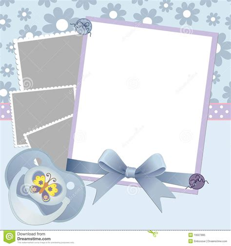 Cute Template For Baby S Card Royalty Free Stock Photo Image 19507885 Baby S Card Template
