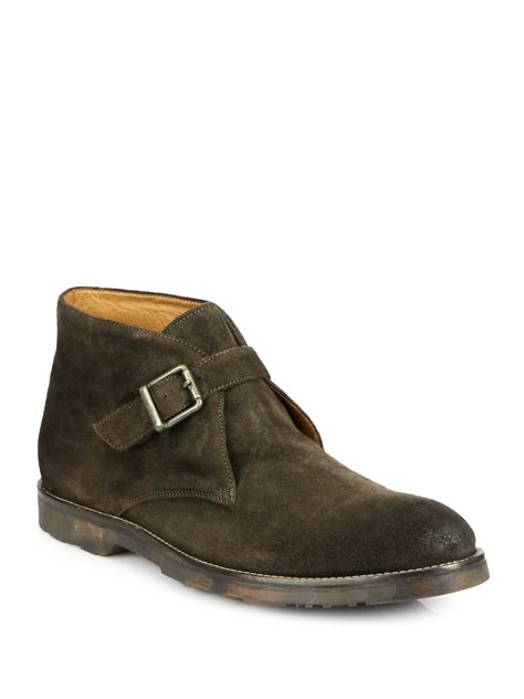 to boot raphael suede monk chukka boots in brown for