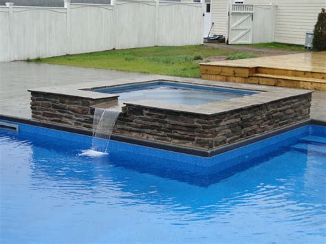 l shaped pool designs l shaped pool with spillover spa modern pool other