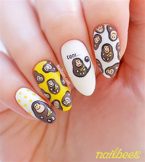 new year monkey nail monkey nail nailbees