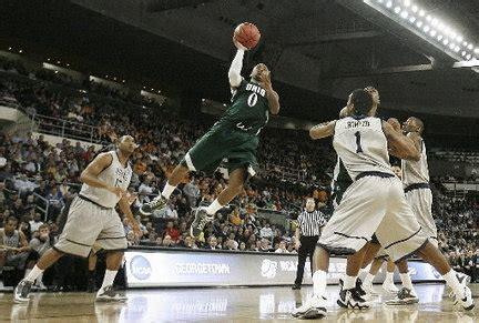 ohio university romps  georgetown     ncaa mens basketball tournament