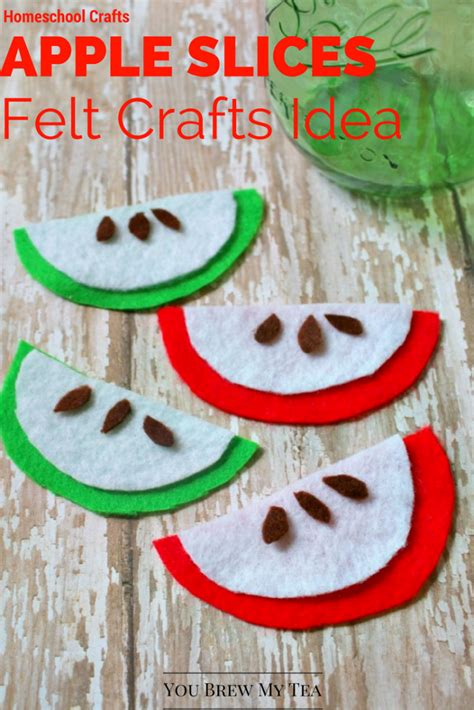 easy felt crafts for easy apple slices felt crafts for