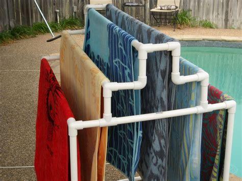Pvc Pipe Towel Drying Rack by Pool Side 6 Towel Rack Ebay