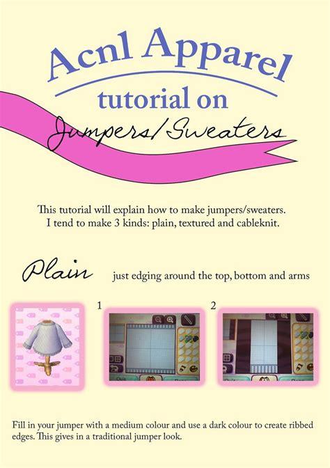 acnl tutorials acnl jumpers tutorial animal crossing new leaf qr codes