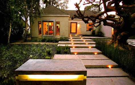 Outdoor Gardening Walkway Modern Designs Garden Landscape Lighting Design Tips