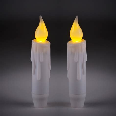 2 mini theatrical battery led taper candles lights4fun co uk