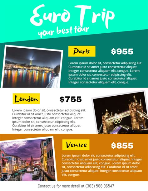 24x36 Poster Template Euro Trip Ad Flyer Poster Social Media Post Custom Template Barsazar 24x36 Poster Template Psd