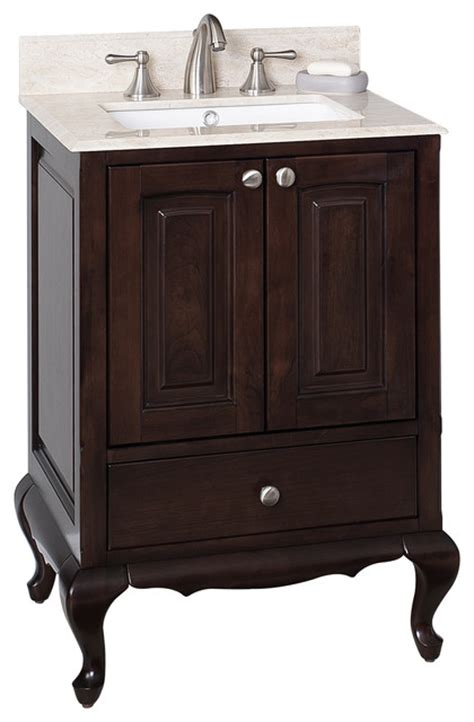 Birch Bathroom Vanity Cabinets by Birch Wood Veneer Vanity Set In Walnut 24 Quot X20