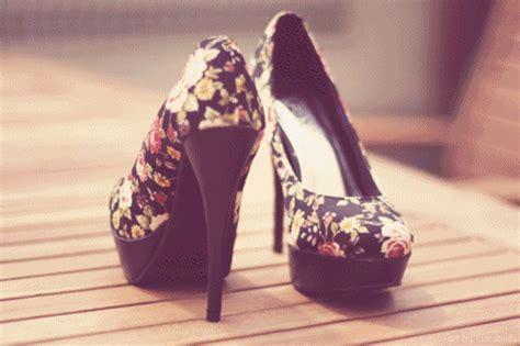 flowery high heels cool