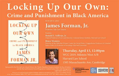locking up our own crime and in black america books et seq the harvard school library