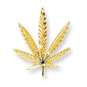 Details about 10k yellow gold pot leaf charm marijuana findingking