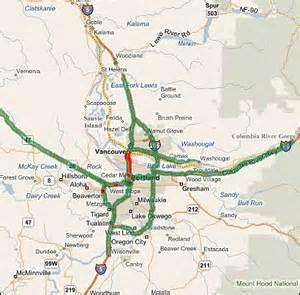 portland oregon traffic map highway evacuations in selected metropolitan areas