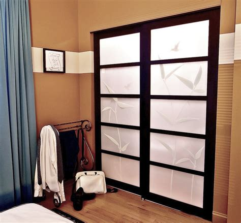 Shoji Screen Closet Doors Patterned Shoji Screen Sliding Closet Doors Contemporary Bedroom Chicago By Adam