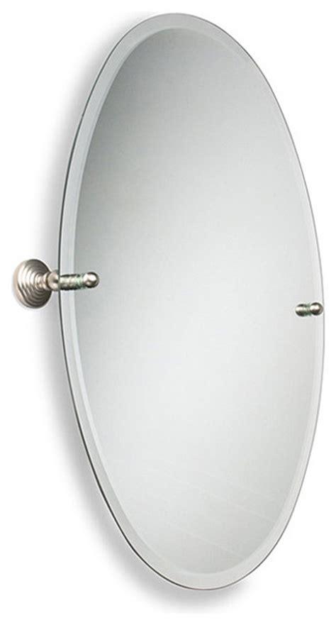 wall mounted tilting bathroom mirrors oval bathroom tilt wall mirror with beveled edge