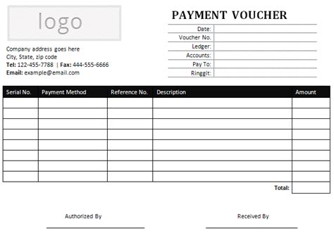 Credit Voucher Format Word sle payment voucher for ms word office templates