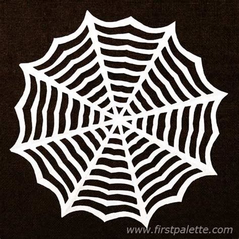 How To Make Spider Webs Out Of Paper - paper spider web craft crafts firstpalette