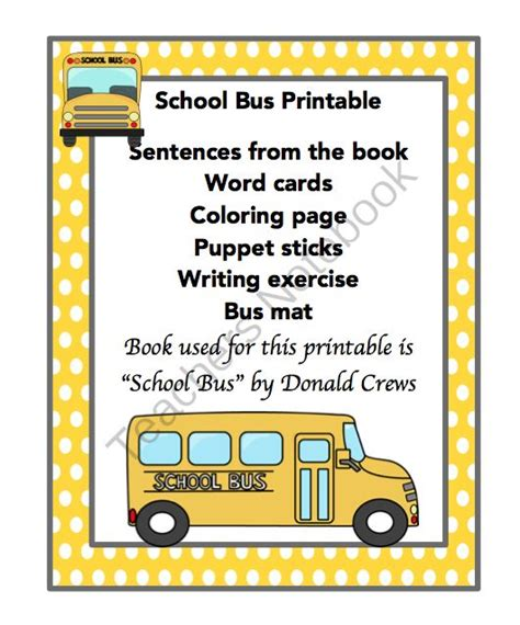 printable bus tags kindergarten school bus printable bus tags pinterest school buses
