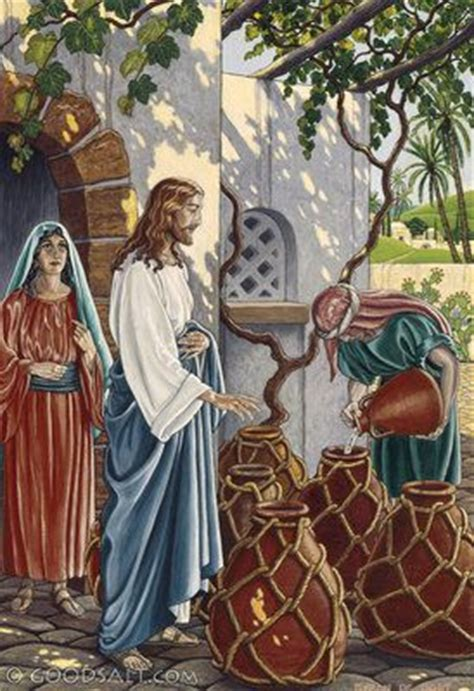 The Wedding At Cana Humanism by Jesus Turned Water Into Wine On The 3rd Day There Was A