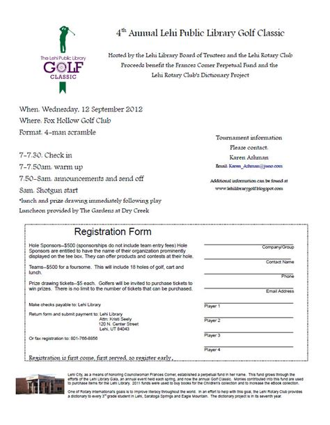 golf outing registration form template golf registration form template 28 images golf