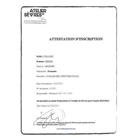 traduction certifi 233 e attestation inscription stage