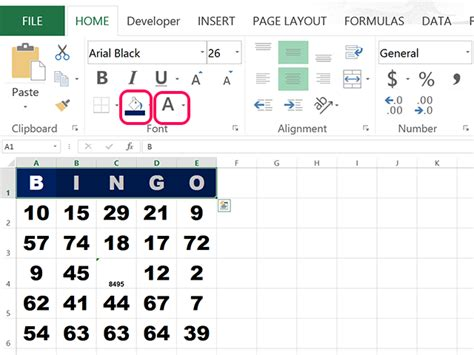 bingo cards template excel how to make bingo cards in excel techwalla
