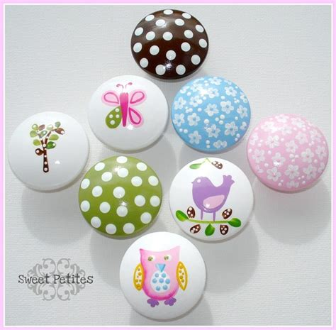 Painted Dresser Knobs by Painted Knob Dresser Drawer Hayley Owl Bird
