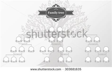 Vintage Family Tree Clip Art 77 Vintage Genealogical Family Tree Sketch Vector Illustration Stock Vector