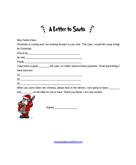 Santa Letter Template 9 Free Word Pdf Psd Documents Download Free Premium Templates Free Santa Letter Template Microsoft Word