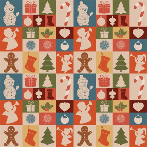 cute christmas pattern cute christmas seamless pattern vector 03 vector