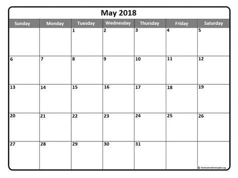 18 Month Calendar Template by May 2018 Calendar 51 Calendar Templates Of 2018 Calendars