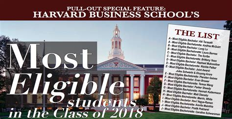Harvard Business School Mba Class Of 2017 by Class Of 2018 S Most Eligible Bachelors The Harbus