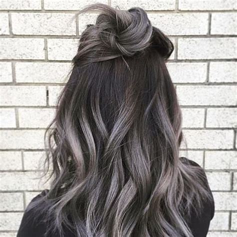 hair styles dark on top and light on bottom the gray hair trend 32 instagram worthy gray ombr 233