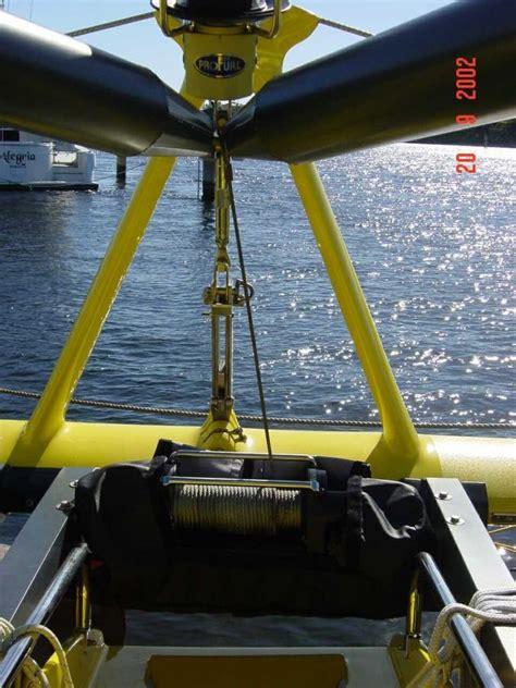 boat winch pole knowing sailboat gin pole design j bome