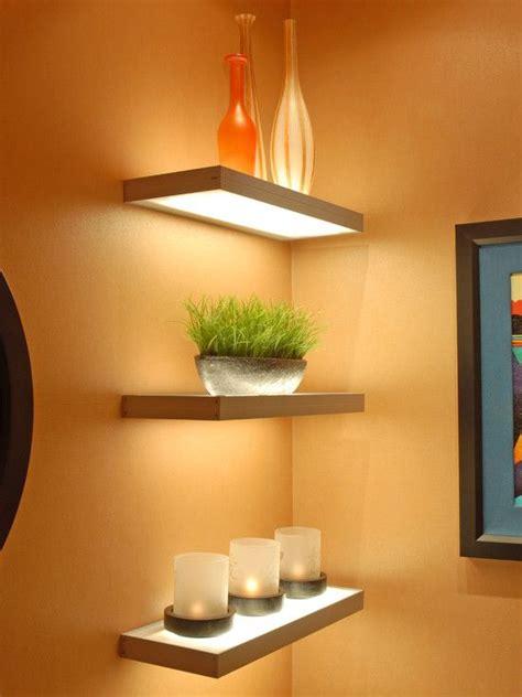 powder room shelves lit shelves it photos decor ideas eclectic
