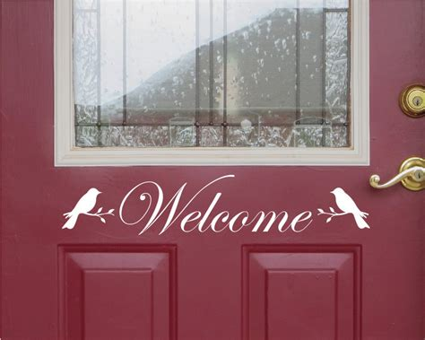 Welcome Sign For Front Door front door welcome sign front door decor welcome sign bird