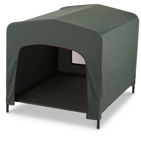 green dog house pet retreat portable dog house guardian gear green 653247 kennels beds at