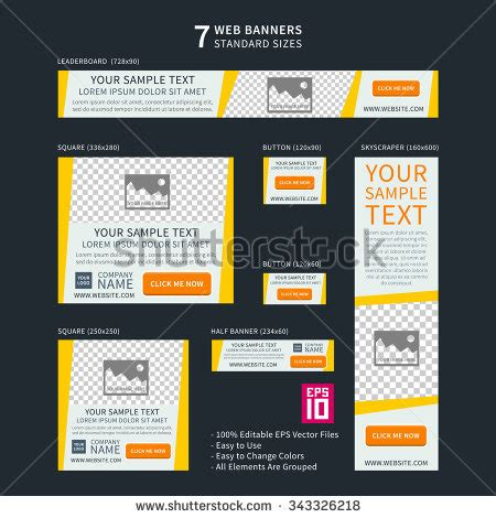 site logo size web banner stock images royalty free images vectors