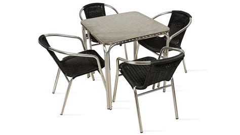 table et chaise de jardin en aluminium table carr 233 e aluminium 4 places
