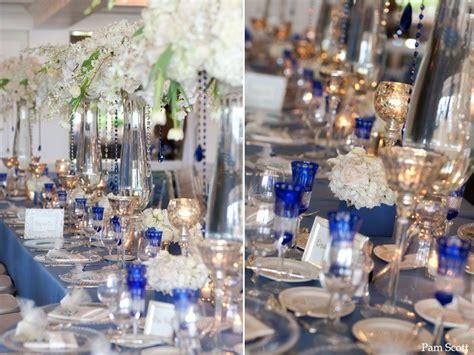cobalt blue and silver wedding reception i m thinking