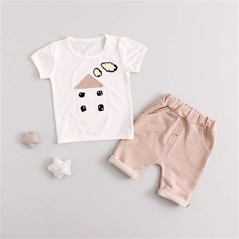 Baby 3in1 2shirt 1pant summer baby boys clothes sets infant cotton t shirt tops 2 pcs in