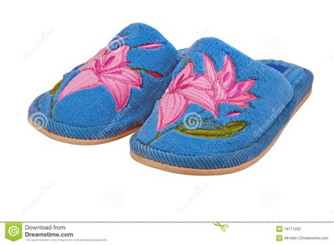 nice house slippers nice bright child house slippers isolated stock photos image 18771293
