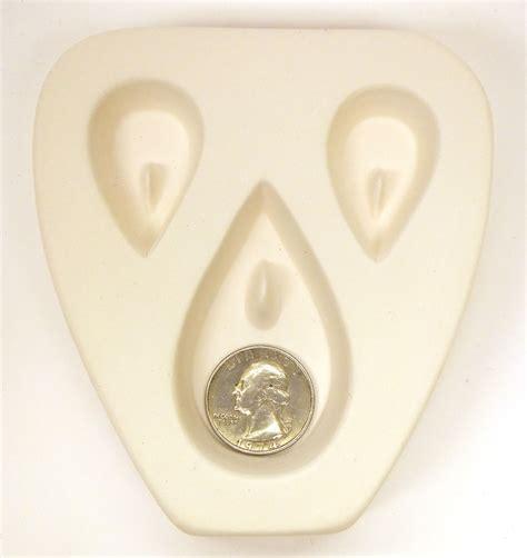 jewelry mold teardrop trio earring pendant jewelry mold