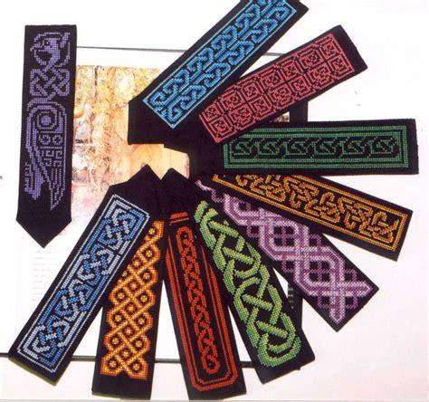 printable irish bookmarks celtic cross stitch patterns 10 celtic bookmarks pdf file