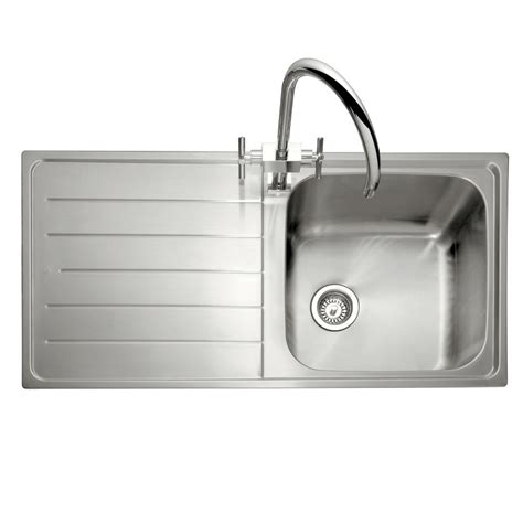 inset sinks kitchen stainless steel caple lyon 100 single bowl stainless steel inset kitchen sink