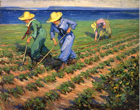 painting work official art land girls hoeing canada and the first