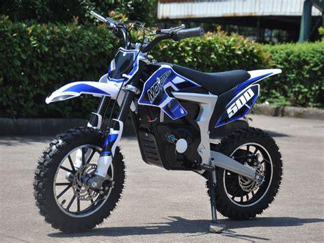 electric motocross bike mototec 36v electric dirt bike 500w lithium blue