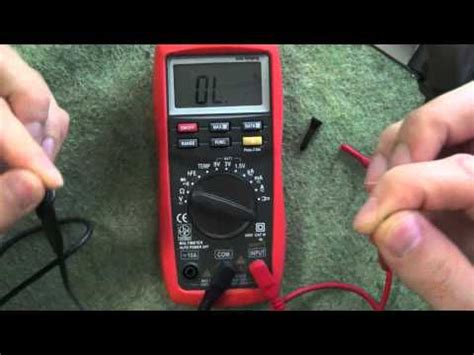 Motorrad Batterie Messen Mit Multimeter by Ts Physik Multimeter Widerstand Messen