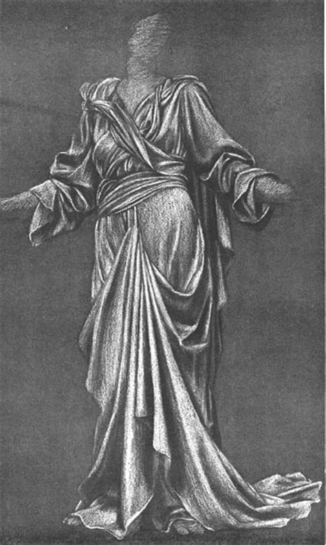 draping sketches study of drapery by evelyn de morgan