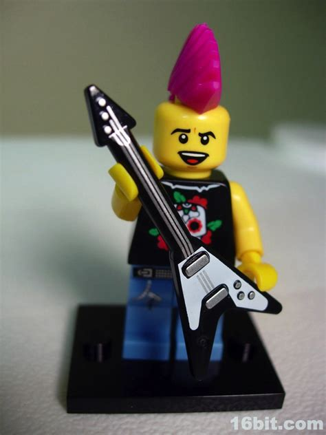 Lego Original Minifigure Rocker Rock Guitar Series 16bit figure of the day review lego minifigures series 4 rocker